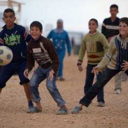 Football becomes mother to Syria's traumatised child refugees