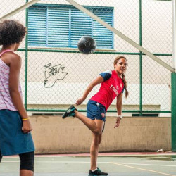 Brazilian women use football to escape the favelas