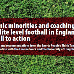 Report finds shockingly low levels of ethnic minorities in coaching