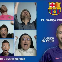 Iniesta and Alves lead FC Barcelona campaign against homophobia in football