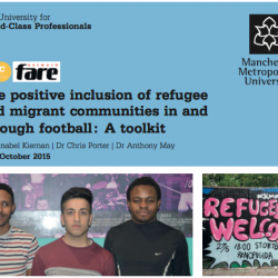 Manchester Metropolitan University launch toolkit for clubs on migrants inclusion