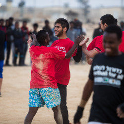 Refugees play for inclusion in Israel