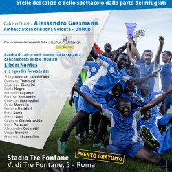 Serie A star Muntari joins event to raise awareness of the experiences of refugees
