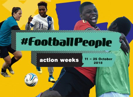 #FootballPeople weeks 2018 global campaign launches aimed at tackling discrimination in 60+ countries