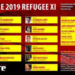 Fare 2019 Refugee XI celebrates refugee footballers